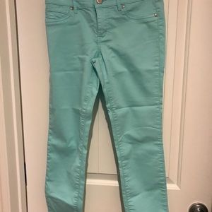 Brody mint green jeans.